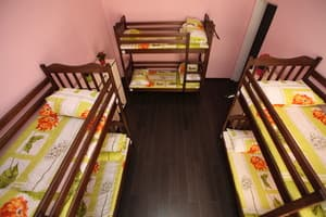 Hotels . Hotel Bed in 6-bedded female dormitory room.