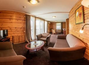 Hotels . Hotel Suite with park view.