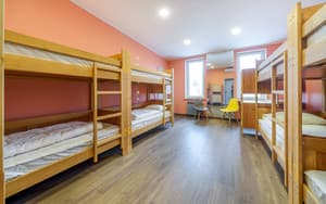 Hotels . Hotel 8-bedded female dormitory room with facilities.