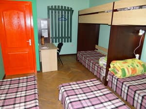 Hotels . Hotel Multiple bedded mixed dormitory room.