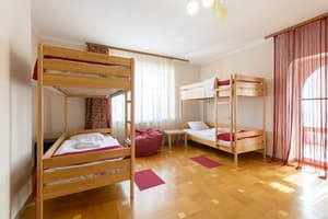 Hotels . Hotel 4-bedded female dormitory room.