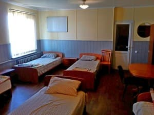 Hotels . Hotel 5-bedded mixed dormitory room.