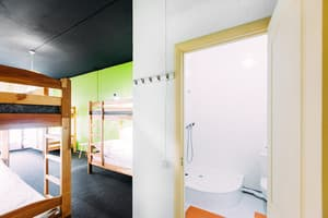 Hotels . Hotel 10-bedded female dormitory room with bathroom.