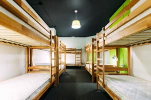 Hotels . Hotel 10-bedded male dormitory room.
