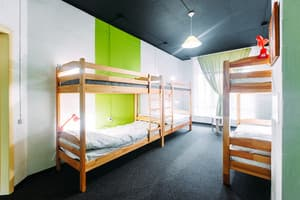 Hotels . Hotel 6-bedded female dormitory room.