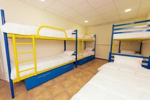 Hotels . Hotel 7-bedded room .