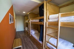 Hotels . Hotel 6-bedded mixed dormitory room.