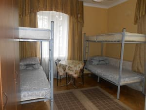 Hotels . Hotel 4-bedded economy room.