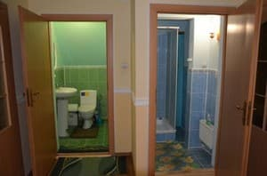 Hotels . Hotel Room for 4 people (shared bathroom).