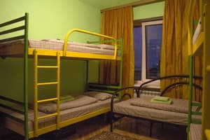 Hotels . Hotel 7-bedded mixed dormitory room.