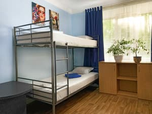 Hotels . Hotel Bed in Male Dormitory 6-bed room.