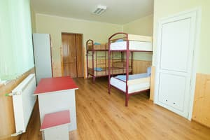 Hotels . Hotel 4-bedded mixed dormitory room with separate bathroom.