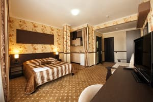 Hotels . Hotel 4-bedded studio room.