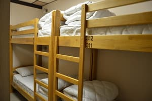 Hotels . Hotel 12-bedded mixed dormitory room.