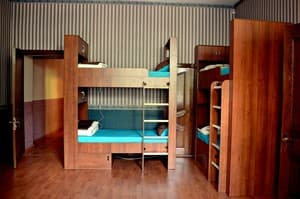 Hotels . Hotel 7-bedded mixed dormitory room .