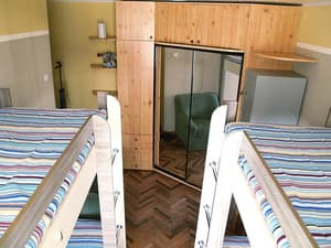 Hotels . Hotel 4-bedded mixed dormitory room.