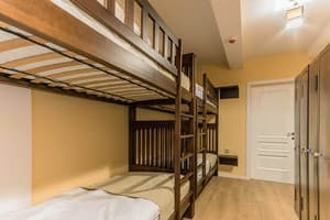 Hotels . Hotel Multiple bedded male room.