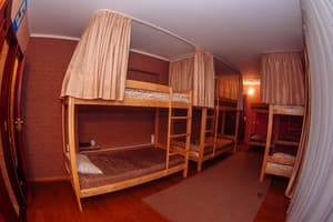 Hotels . Hotel Bed in 8-bedded mixed dormitory room.