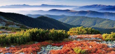 пейзажи украинских Карпат