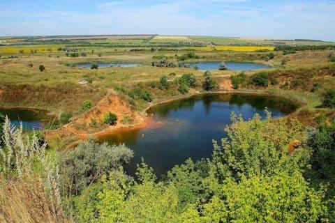 Соледарське озеро в Донецькій області